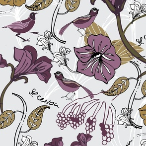 Art Nouveau - Secession Purple Gold Floral - Hero-01