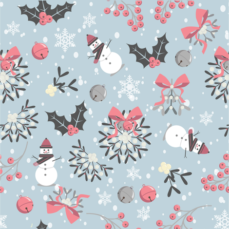 Ditzy Mistletoe fabric by cathy_ann on Spoonflower - custom fabric