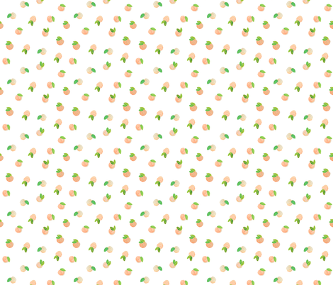 True Sweet Peach // Small With White Space fabric by ivieclothco on Spoonflower - custom fabric