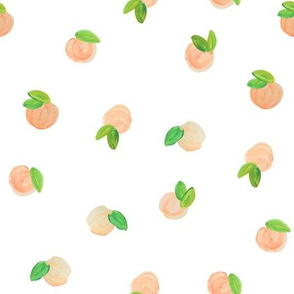 True Sweet Peach // Small With White Space