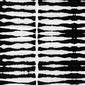 Black Shibori Stripes