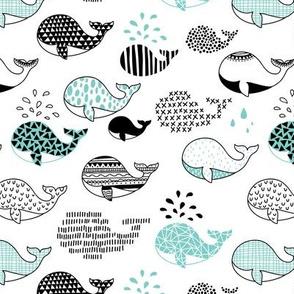 doodle whales
