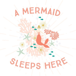 A Mermaid Sleeps Here Baby Blanket // Blonde