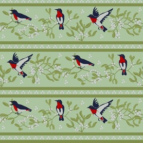 Mistletoe birds Stripe