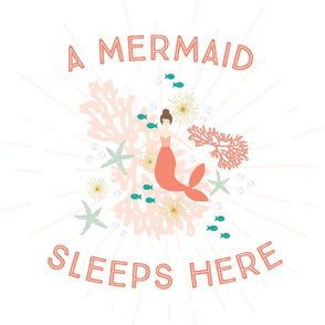 A Mermaid Sleeps Here Baby Blanket // Brunette