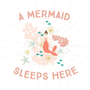 A Mermaid Sleeps Here Lovey // Brunette