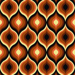 Brown Eye Abstract Pattern