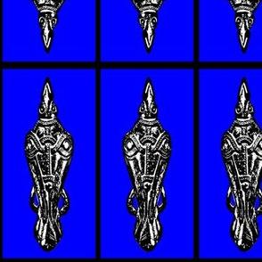 Black & Blue Raven fibula pin