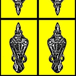 yellow raven_pin