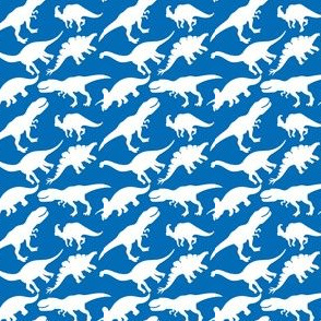 Blue and White Dinosaurs Dino Nursery Trex