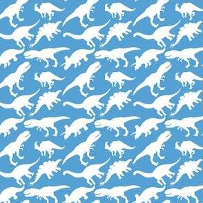 Carolina Blue and White Dinosaurs Dino Nursery Trex