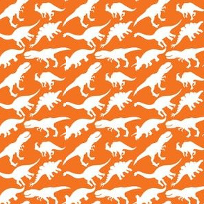 Orange and White Dinosaurs Dino Nursery Trex