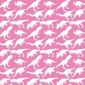 Pink and White Dinosaurs Dino Nursery Trex