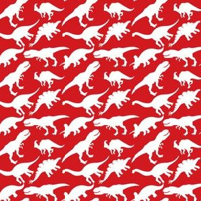 Red and White Dinosaurs Dino Nursery Trex