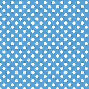 Carolina Blue and White Poka Dots