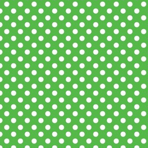 Green and White Poka Dots