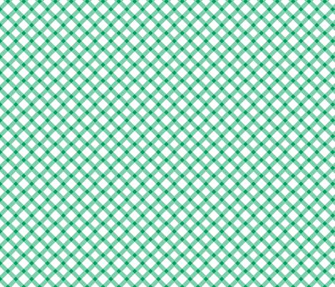 Green Gingham Buffalo Check Checkered fabric by khaus on Spoonflower - custom fabric