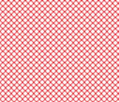 Red Gingham Buffalo Check Checkered fabric by khaus on Spoonflower - custom fabric