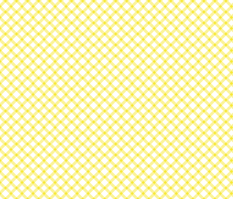 Yellow Gingham Buffalo Check Checkered fabric by khaus on Spoonflower - custom fabric
