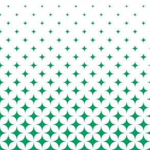 Green and White Star Gradient