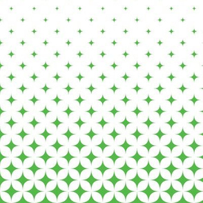 Lime Green and White Star Gradient