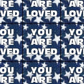 YOU ARE LOVED Patches | Stars on Dark Blue