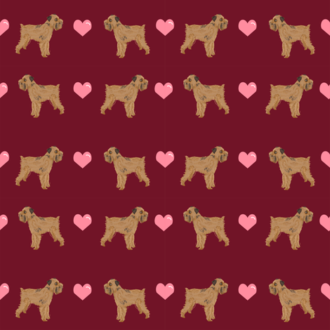 brussels griffon love fabric cute valentines hearts dog fabric best dogs fabric fabric by petfriendly on Spoonflower - custom fabric