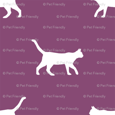 amethyst cat silhouette fabric best cats design kitten fabric cats fabric cat silhouette design