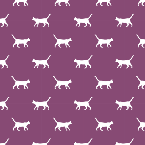 amethyst cat silhouette fabric best cats design kitten fabric cats fabric cat silhouette design fabric by petfriendly on Spoonflower - custom fabric