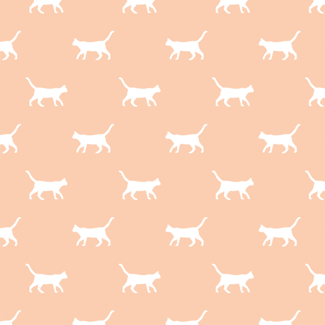 apricot cat silhouette fabric best cats design kitten fabric cats fabric cat silhouette design fabric by petfriendly on Spoonflower - custom fabric