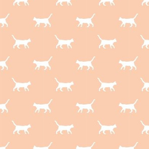 apricot cat silhouette fabric best cats design kitten fabric cats fabric cat silhouette design