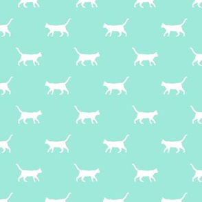 aqua cat silhouette fabric best cats design kitten fabric cats fabric cat silhouette design