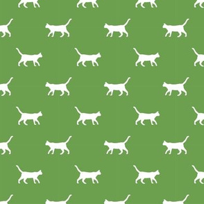 asparagus green cat silhouette fabric best cats design kitten fabric cats fabric cat silhouette design