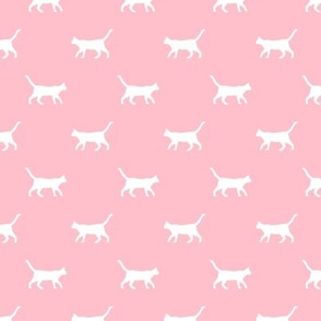 blossom pink cat silhouette fabric best cats design kitten fabric cats fabric cat silhouette design