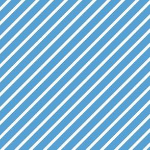 Light Carolina Blue and White Diagonal Pinstripes Stripe