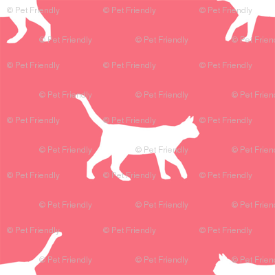 brink pink cat silhouette fabric best cats design kitten fabric cats fabric cat silhouette design