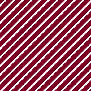 Garnet and White Diagonal Pinstripes Stripe