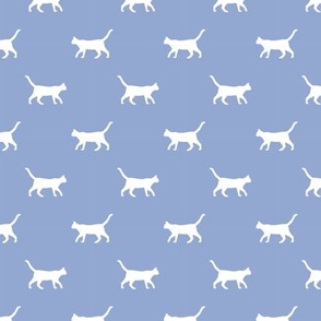 cerulean cat silhouette fabric best cats design kitten fabric cats fabric cat silhouette design