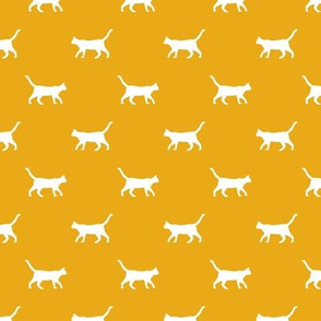 goldenrod cat silhouette fabric best cats design kitten fabric cats fabric cat silhouette design