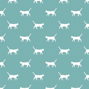marine blue cat silhouette fabric best cats design kitten fabric cats fabric cat silhouette design