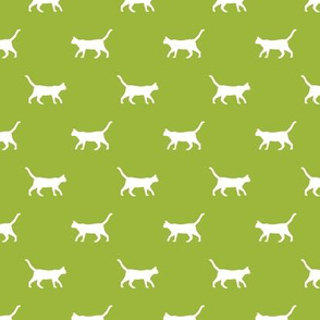 lime green cat silhouette fabric best cats design kitten fabric cats fabric cat silhouette design