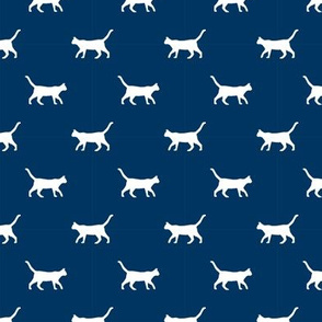 navy cat silhouette fabric best cats design kitten fabric cats fabric cat silhouette design