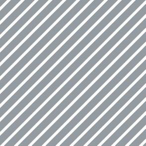 Grey and White Diagonal Pinstripes Stripe