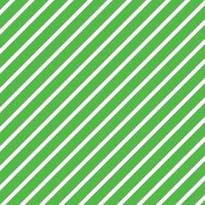 Green and White Diagonal Pinstripes Stripe