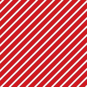 Red and White Diagonal Pinstripes Stripe