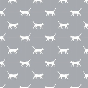 quarry grey cat silhouette fabric best cats design kitten fabric cats fabric cat silhouette design