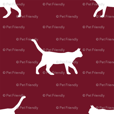 ruby red cat silhouette fabric best cats design kitten fabric cats fabric cat silhouette design