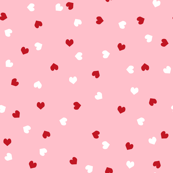 valentines pink and red hearts valentines love fabric