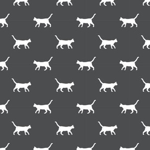 shadow grey cat silhouette fabric best cats design kitten fabric cats fabric cat silhouette design