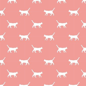 sweet pink cat silhouette fabric best cats design kitten fabric cats fabric cat silhouette design